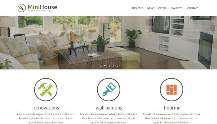 MiniHouse - Business & Corporate WordPress Theme