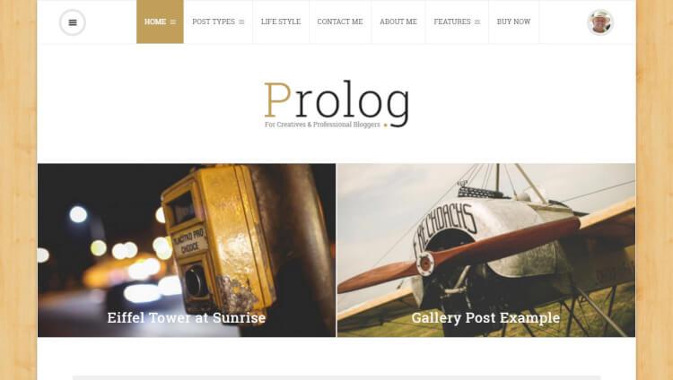 Prolog - Google AdSense WordPress Theme