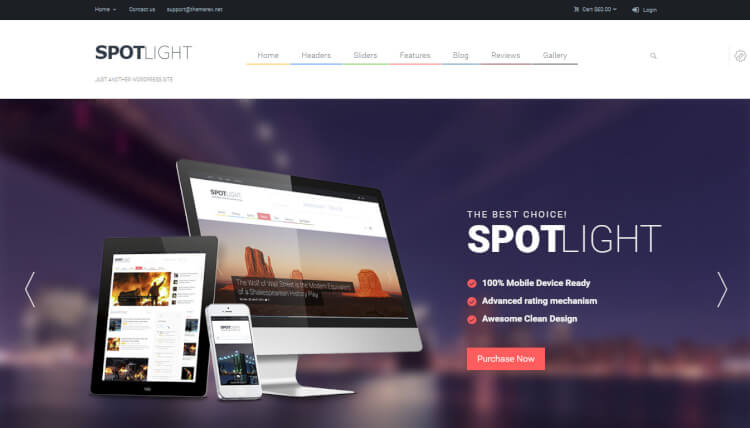 SpotLight - Magazine Google AdSense WordPress Theme