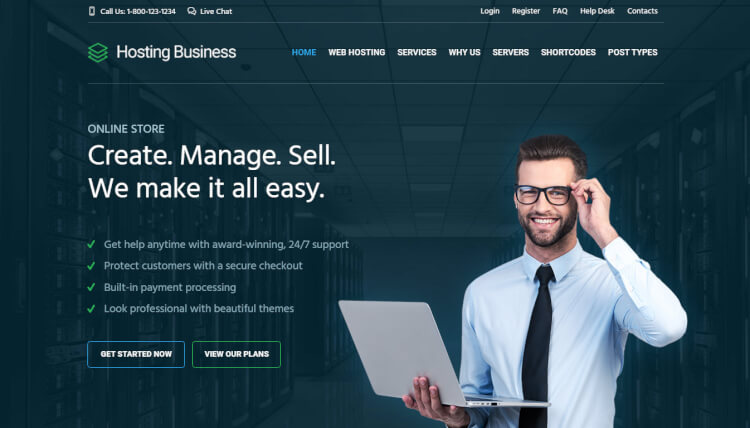 Hosting - Technology and Software WordPress Theme