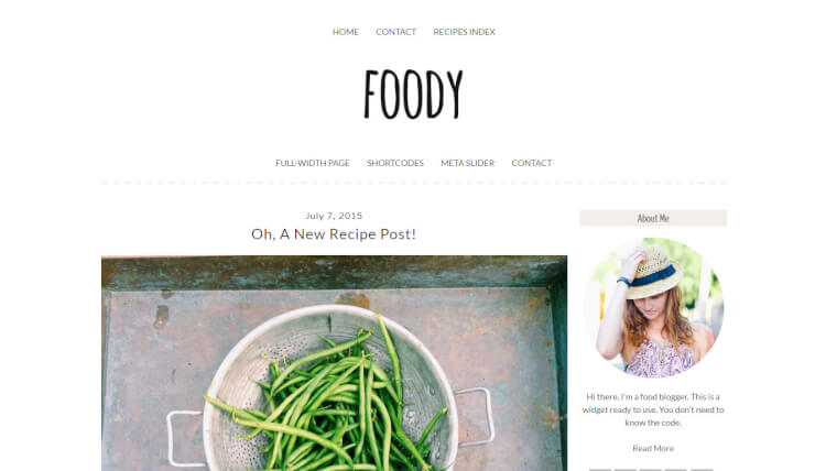 Foody - Food and Drink WordPress Theme