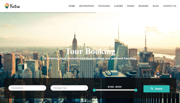 Yatra - Travel Booking Wordpress Theme