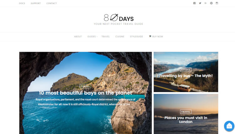 EightyDays - Travel Agency WordPress Theme