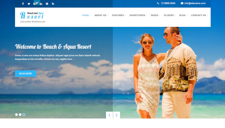 Beach Travel and Resort - WordPress Theme