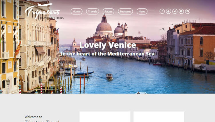 Tripsters - Travel Agency WordPress Theme