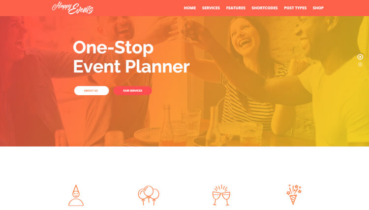 Happy Events - Travel Agency WordPress Theme