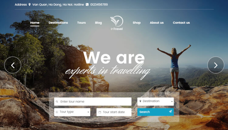 inTravel - Travel Booking Agency WordPress Theme