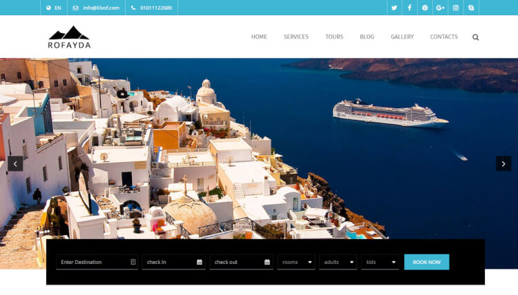 Rofayda - Travel Booking WordPress Theme