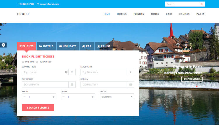 Cruise - Travel Agency WordPress Theme