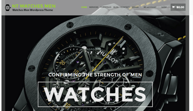 NT Watches - Ecommerce Luxury WordPress Theme