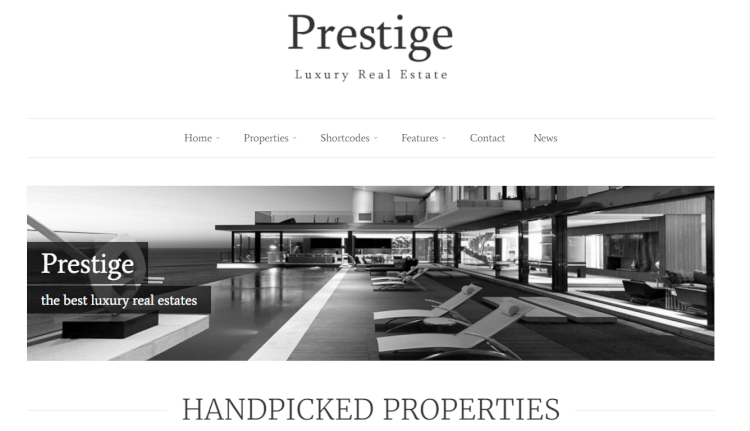 Prestige - Real Estate Luxury WordPress Theme