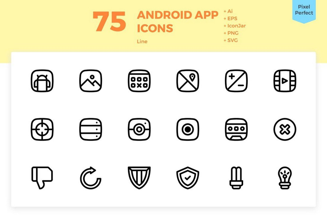 75 Custom Android App Icons