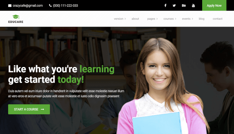 EduCare - Learning and Academy WordPress Theme