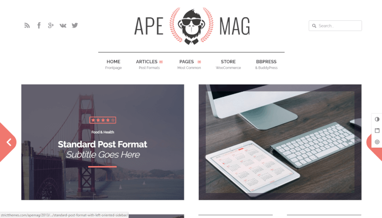 Apemag - Magazine and Reviews WordPress Theme