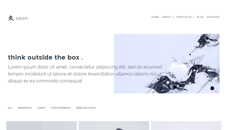 Xeon - Minimal Creative WordPress Theme