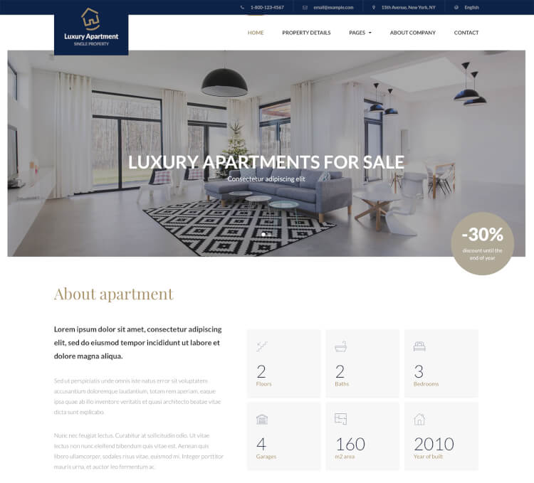 Luxury Apartment & Property Theme