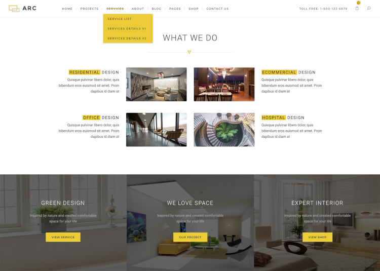 ARC - Interior Design & Decor WordPress Theme