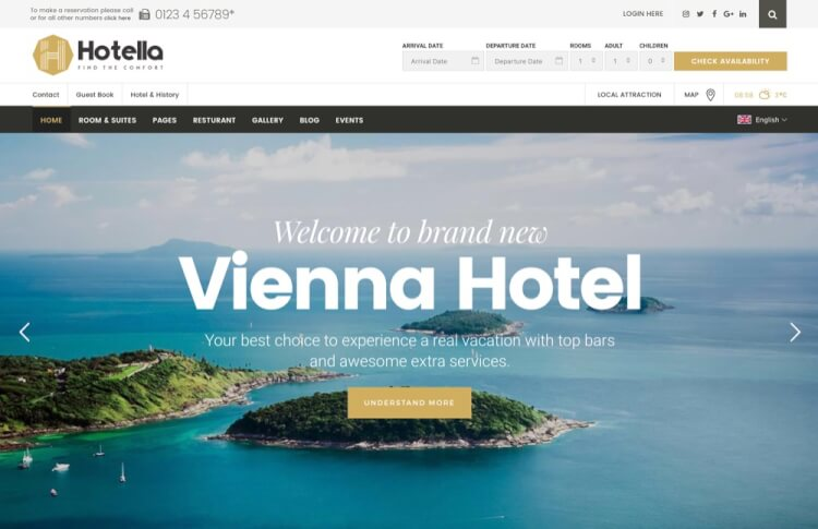 Hotella - Resort & Hotel Booking Theme