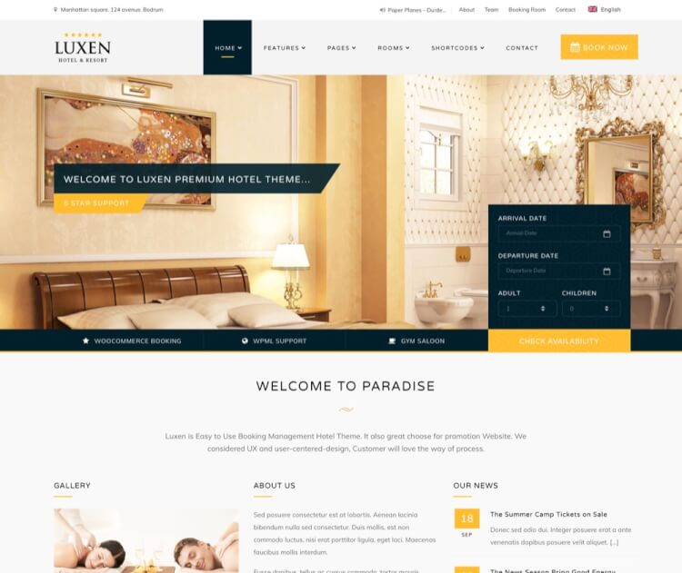 22+ Best Hotel WordPress Themes of 2017 - Theme Junkie