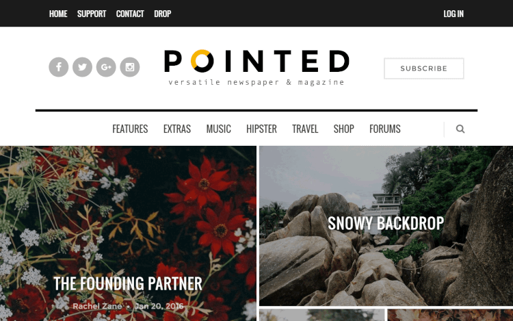 Pointed - Blog and News Grid WordPress Theme