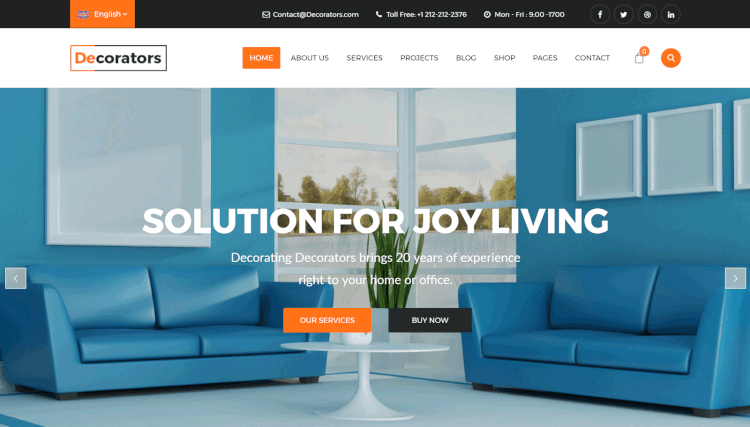 17+ Best Interior Design Wordpress Themes Of 2017 - Theme Junkie