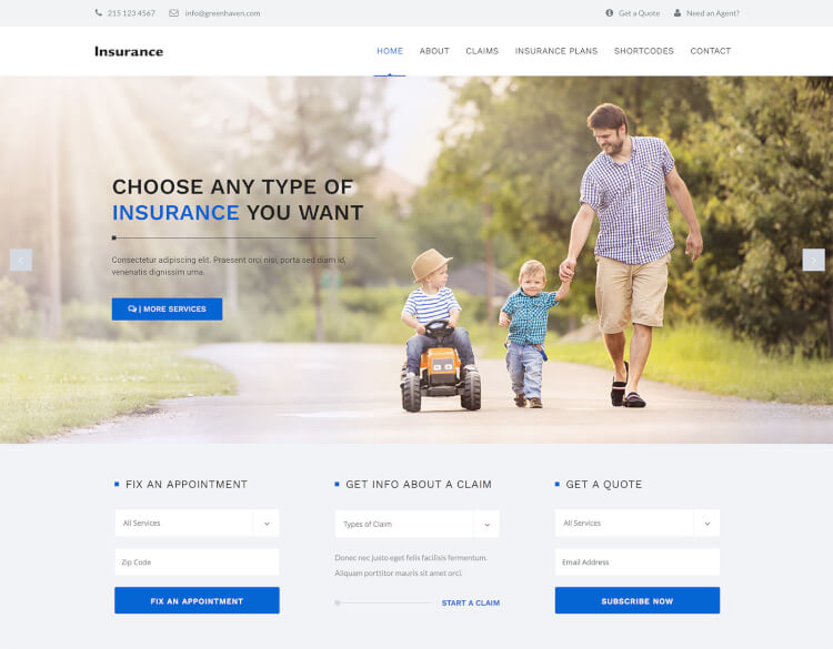 insurance theme for wordpress  15  Best Insurance WordPress Themes 2018 - Theme Junkie
