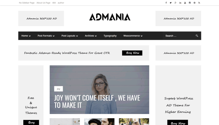 Admania - Affiliate and Google AdSense WordPress Theme