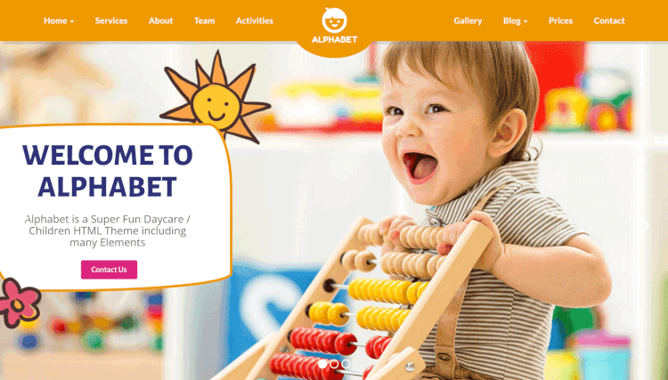 Alphabet - Children and Kids WordPress Theme