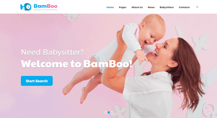 BamBoo - Babysitters Kids and Children WordPress Theme