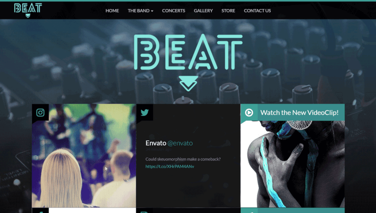 Beat - One-Page DJ WordPress Theme