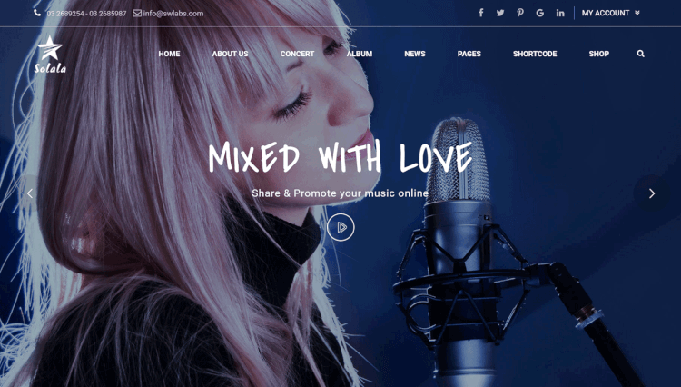 Solala - Music and DJ WordPress Theme