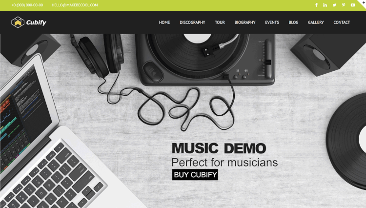 Cubify - Multi-Purpose DJ WordPress Theme