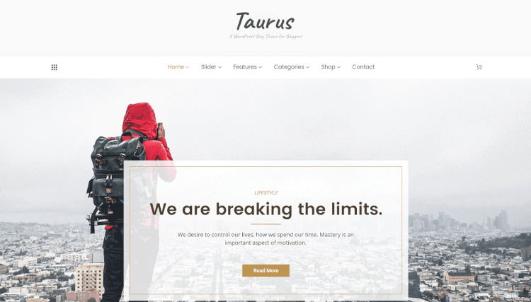 Taurus - Personal Blogger WordPress Theme