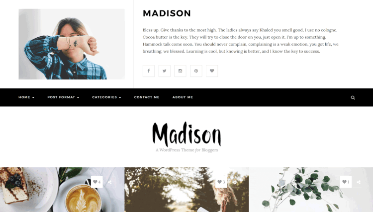 Madison - Personal WordPress Blogging WordPress