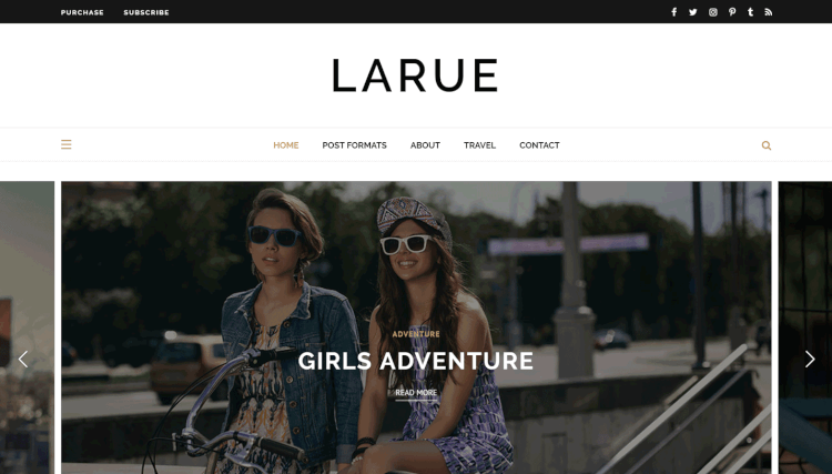 Larue - Personal WordPress Theme