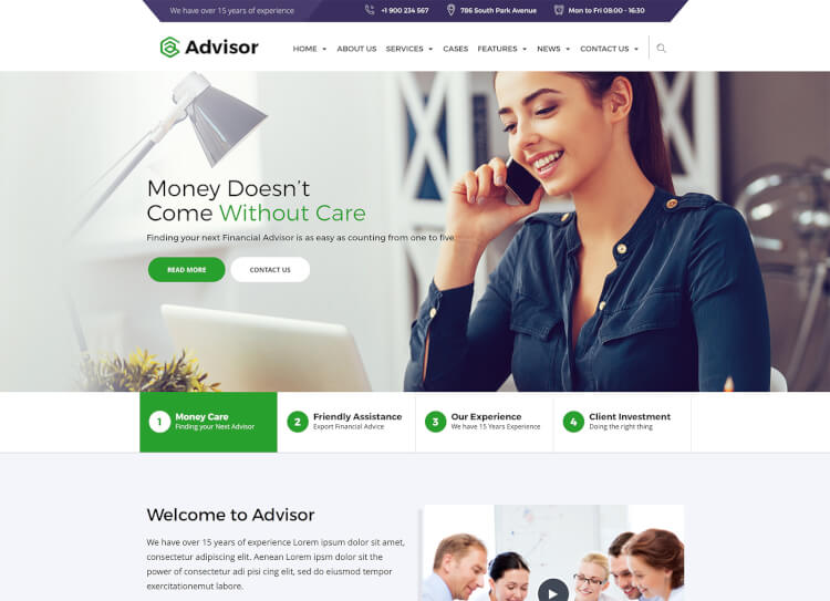Advisor Business & Finance Theme