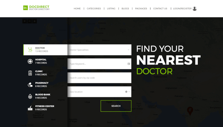 DocDirect - Doctors and Healthcare Professionals Directory WordPress Theme