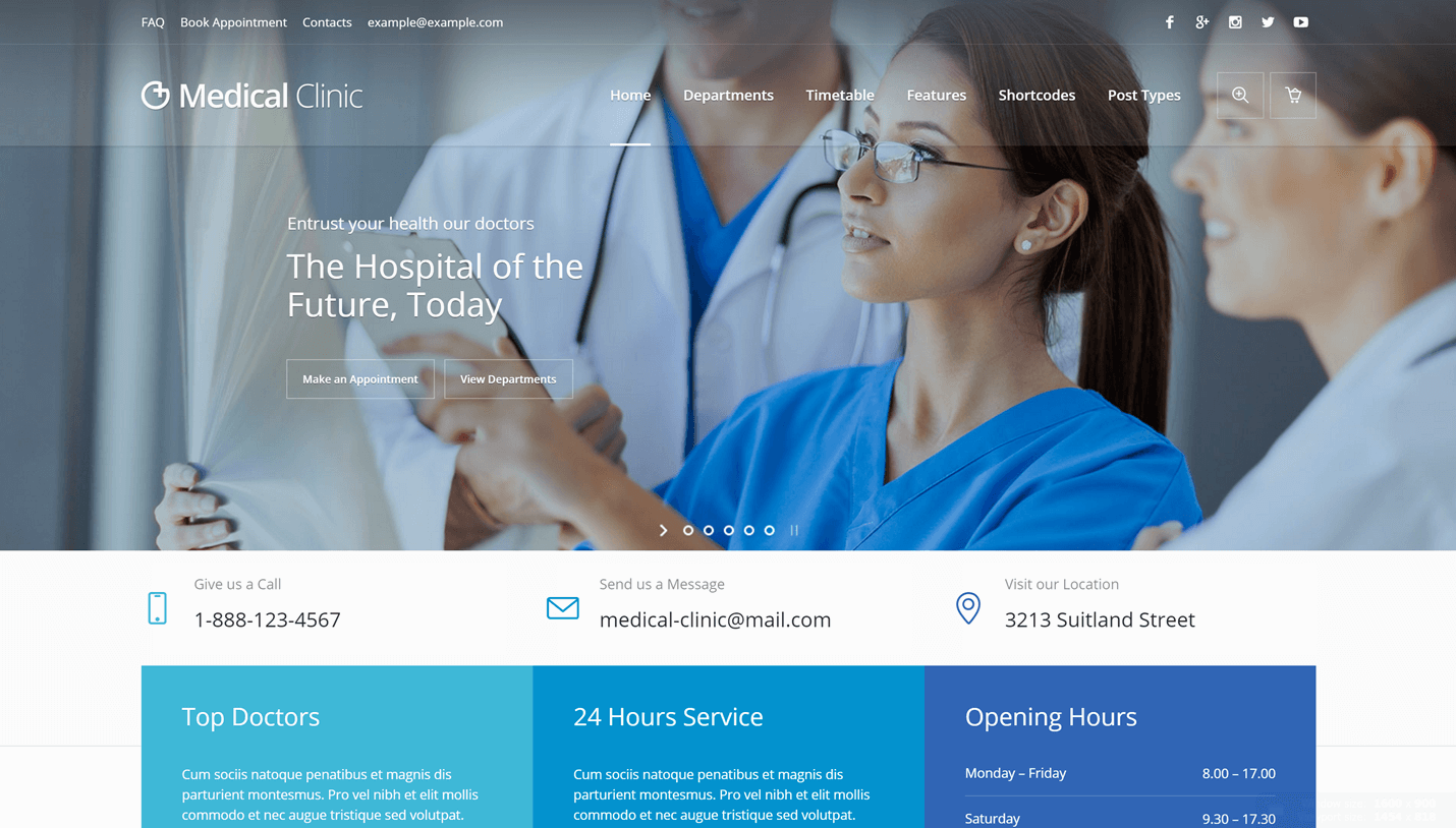 Medical Clinic - Health and Medical WordPress Theme