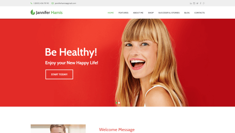 Health Coach - Blog and Lifestyle Health WordPress Theme