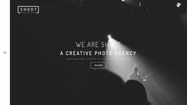 Shoot - Dark Photography WordPress Theme