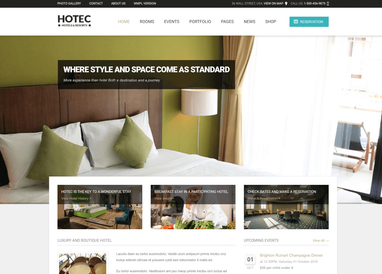 Hotec - Responsive Hotel, Spa & Resort Theme