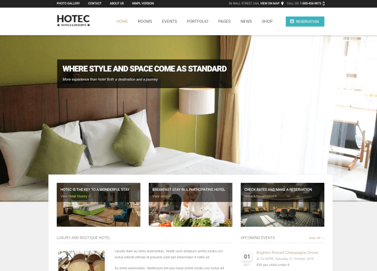 Hotec - Responsive Hotel, Spa & Resort Theme