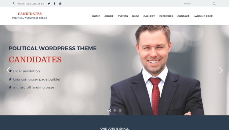 Candidates - Political and Activism WordPress Theme