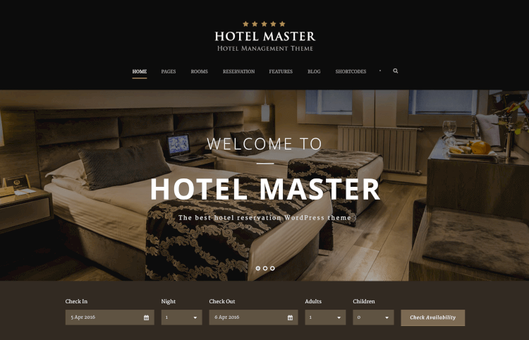 Hotel Master - Hotel Booking Theme