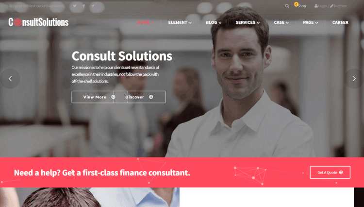 Consult Solution - Business and Corporate WordPress Theme