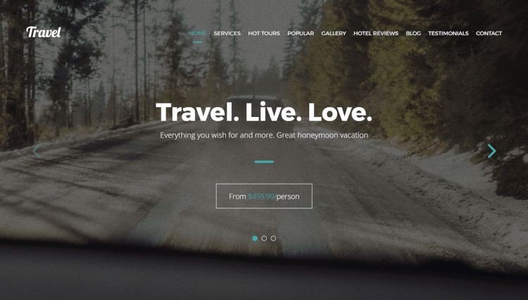 Travel - One-Page Modern Tour Agency WordPress Theme