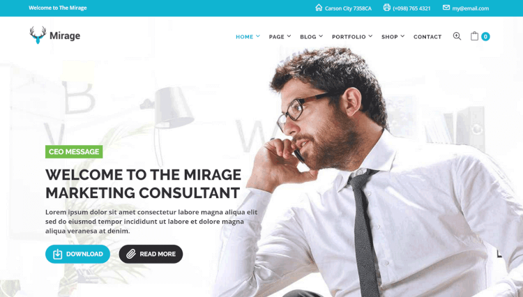 Mirage - Business and Marketing WordPress Theme