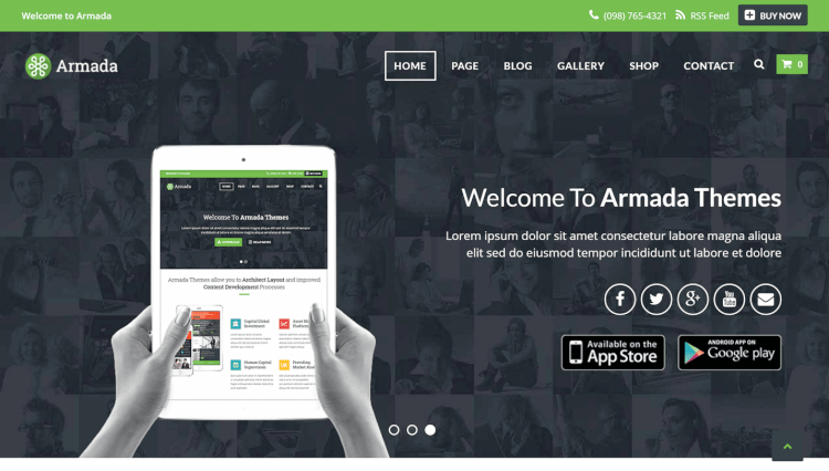Armada - Professional Drag-and-Drop WordPress Theme