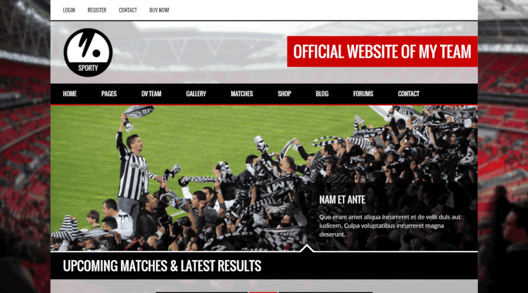 Sporty - Sports Club Wordpress Theme