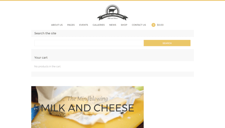 Horizon Creamery - Business WordPress Theme
